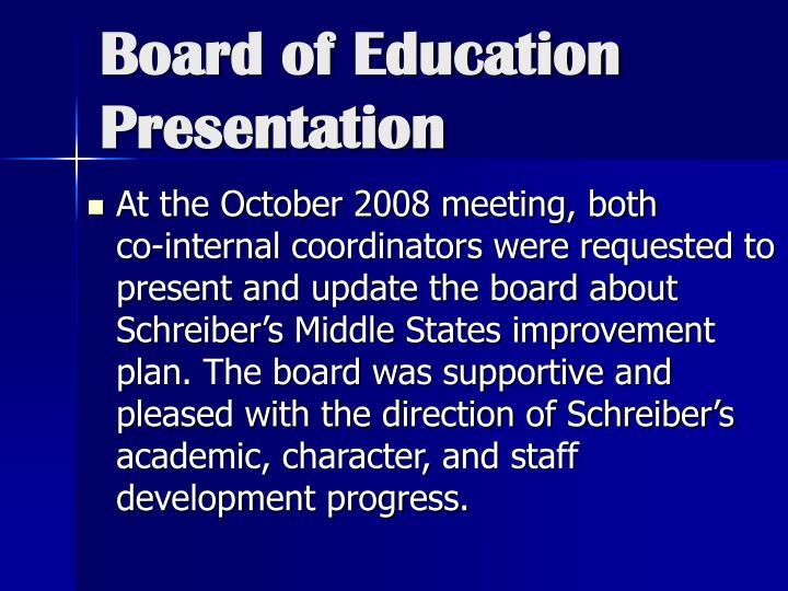 Board of Education Presentation
