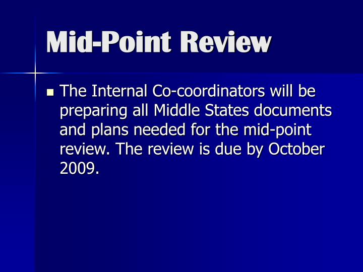 Mid-Point Review