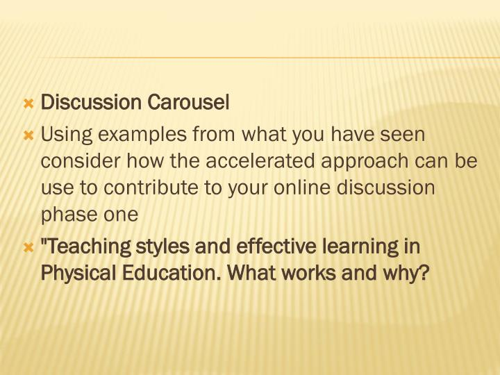 Discussion Carousel