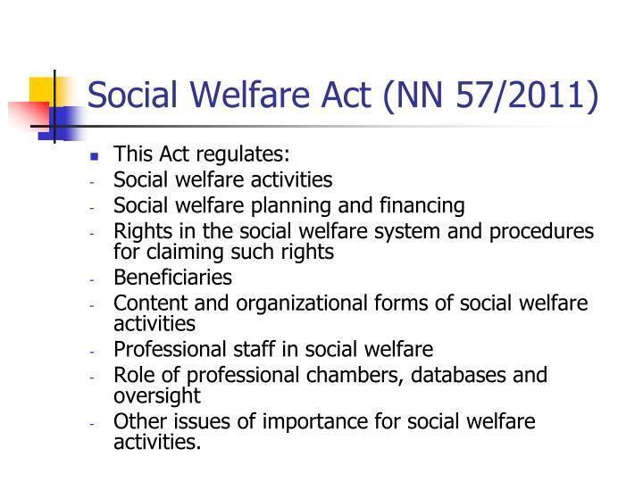 Social Welfare Act (NN 57/2011)