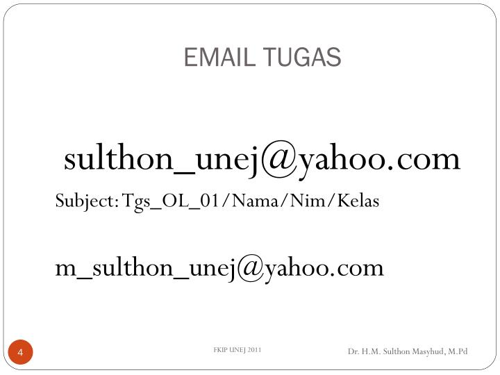 EMAIL TUGAS