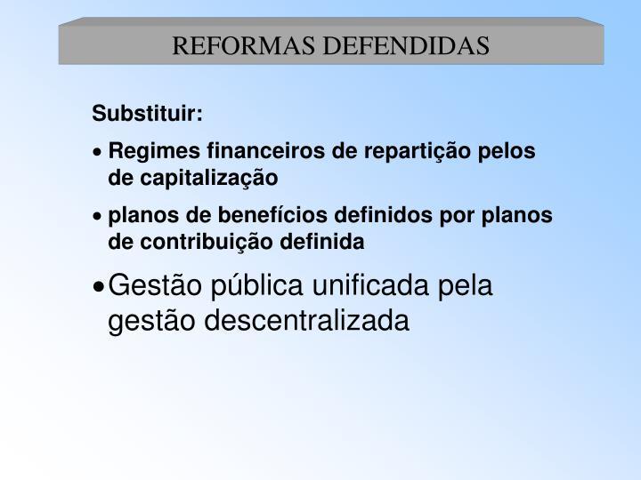 REFORMAS DEFENDIDAS