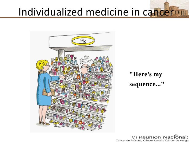 Individualized medicine in cancer