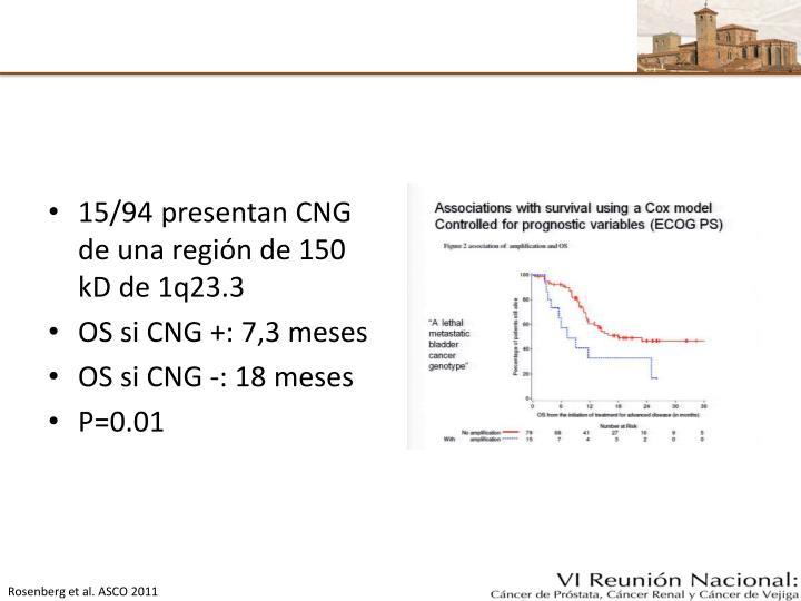 15/94 presentan CNG de una región de 150 kD de 1q23.3
