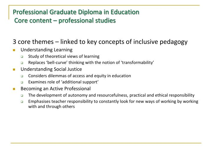 Professional Graduate Diploma in Education