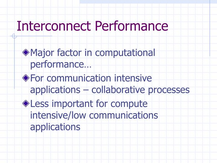 Interconnect Performance