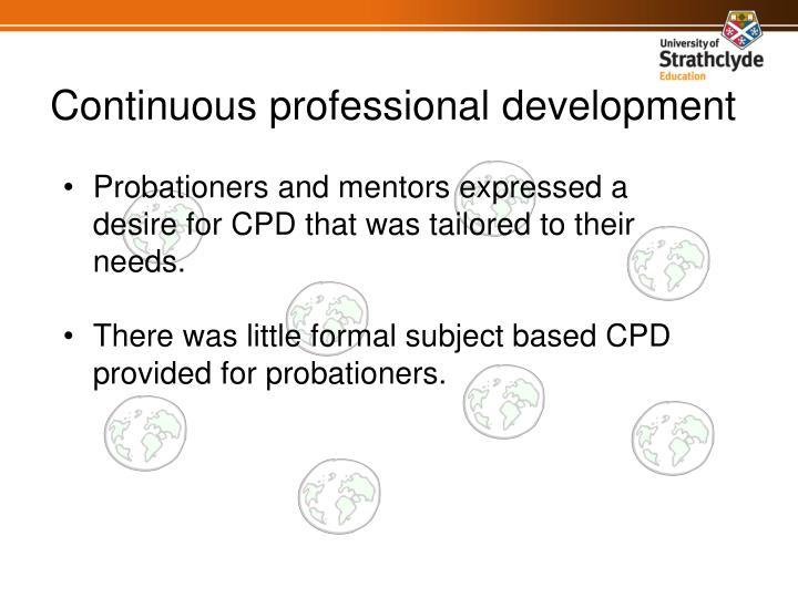 Continuous professional development