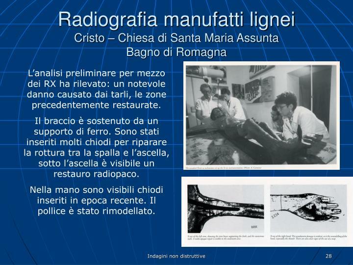 Radiografia manufatti lignei