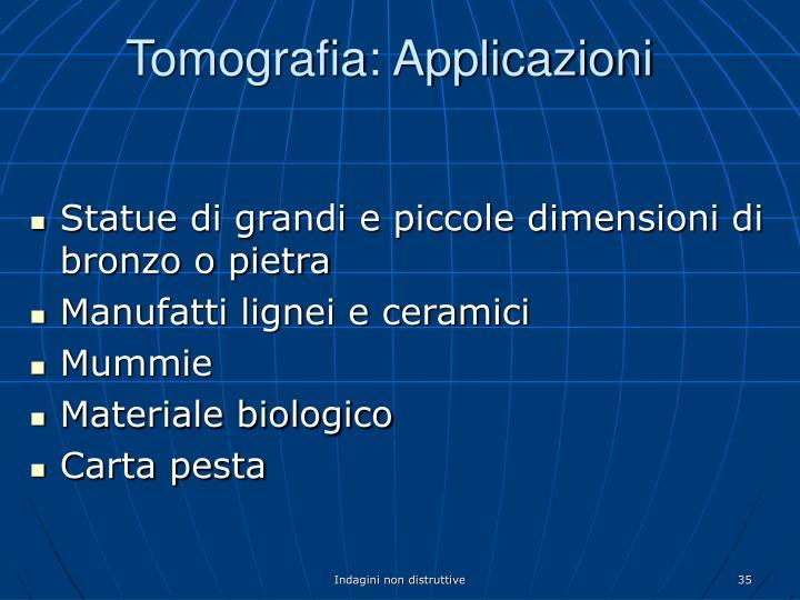 Tomografia: Applicazioni