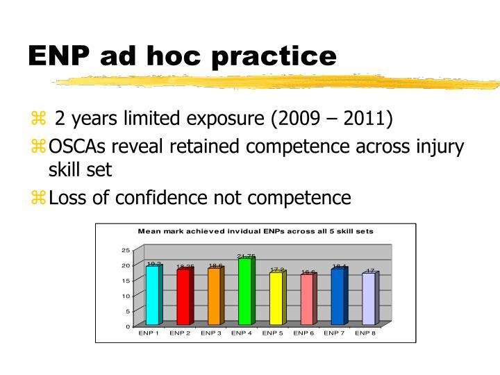 ENP ad hoc practice