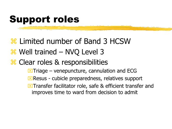 Support roles
