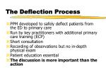 the deflection process