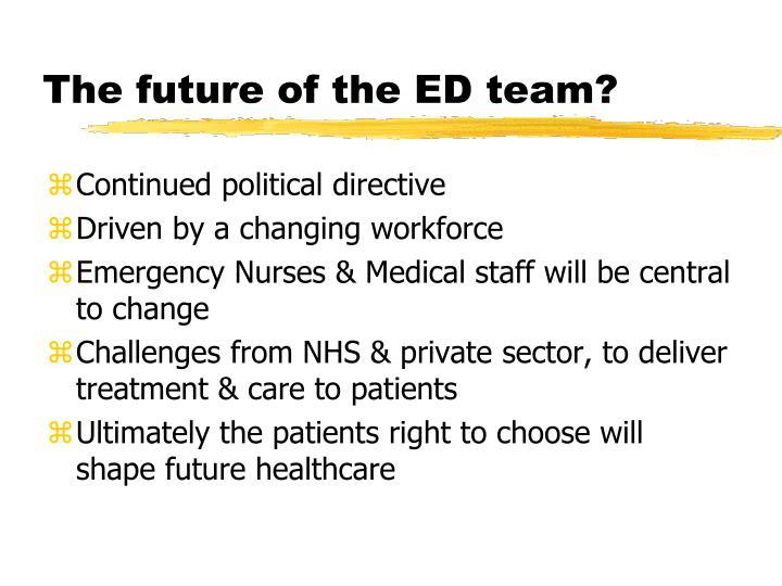 The future of the ED team?