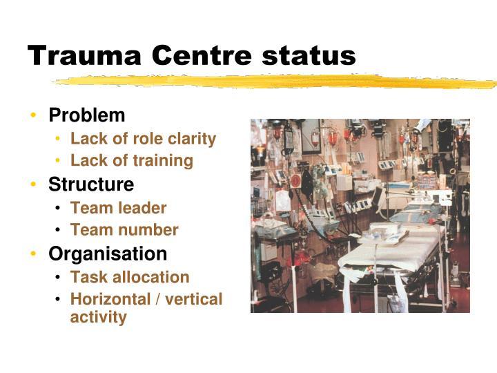 Trauma Centre status