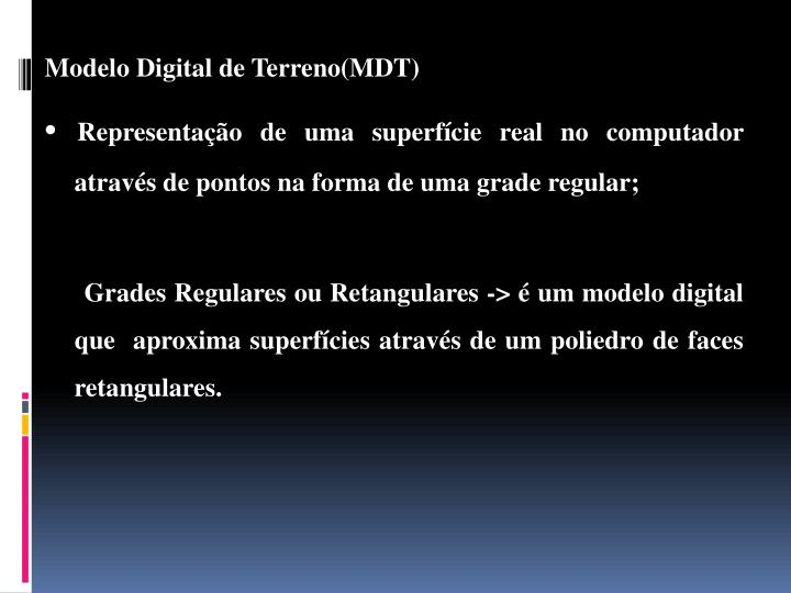 Modelo Digital de Terreno(MDT)