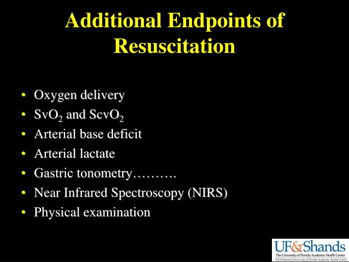 Additional Endpoints of Resuscitation