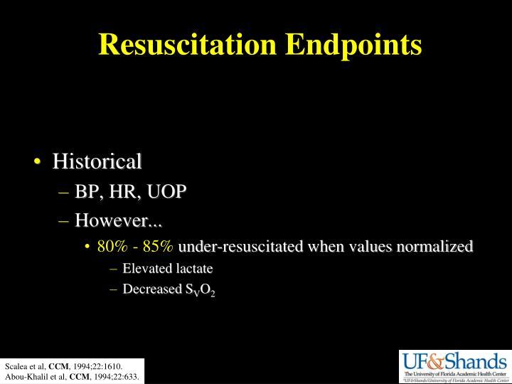 Resuscitation Endpoints