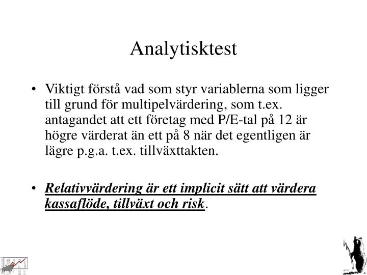Analytisktest