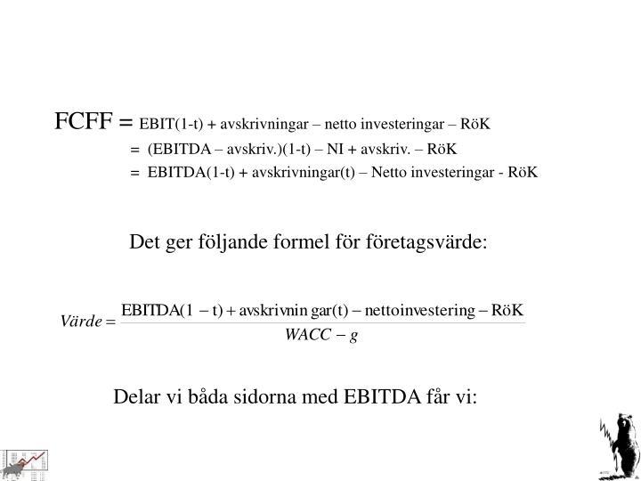 FCFF =