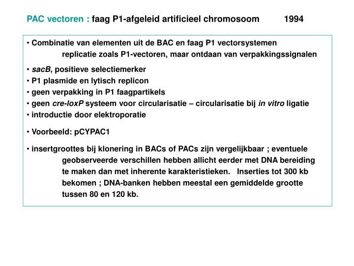 PAC vectoren :