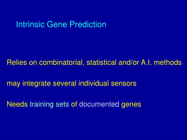 Intrinsic Gene Prediction