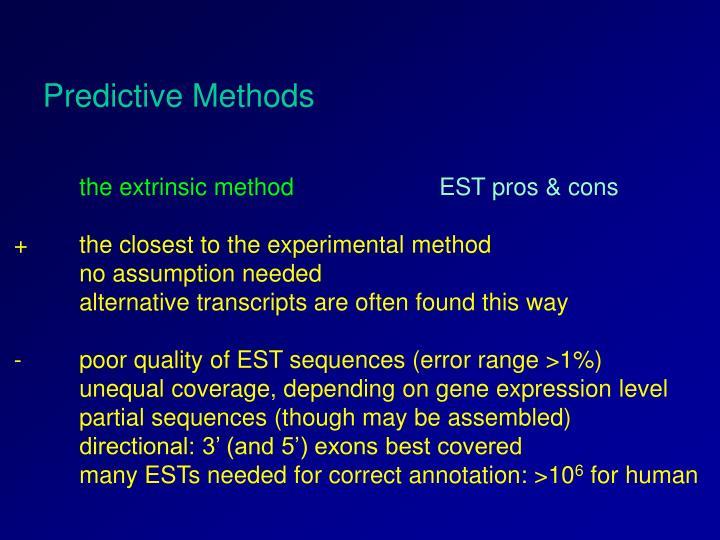 Predictive Methods