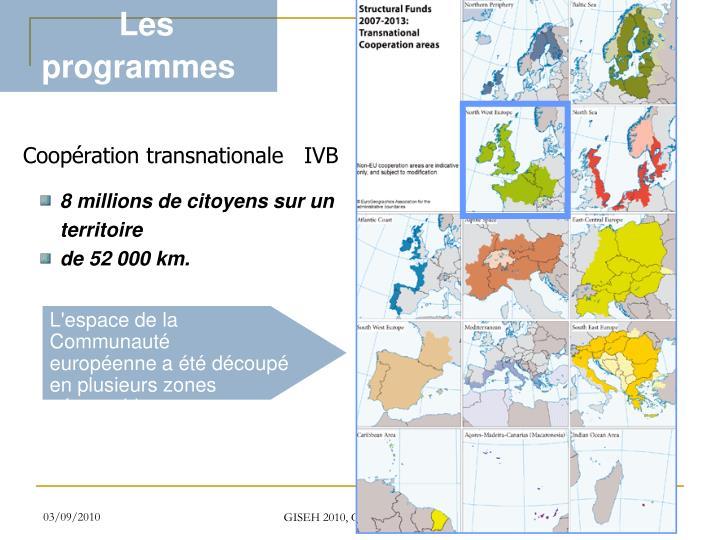 Les programmes INTERREG