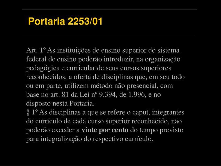 Portaria 2253/01