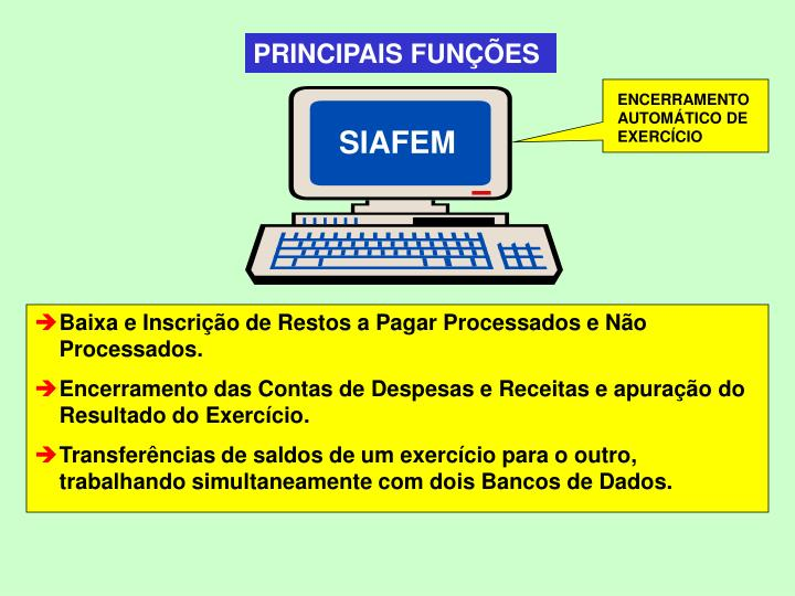 PRINCIPAIS FUNÇÕES