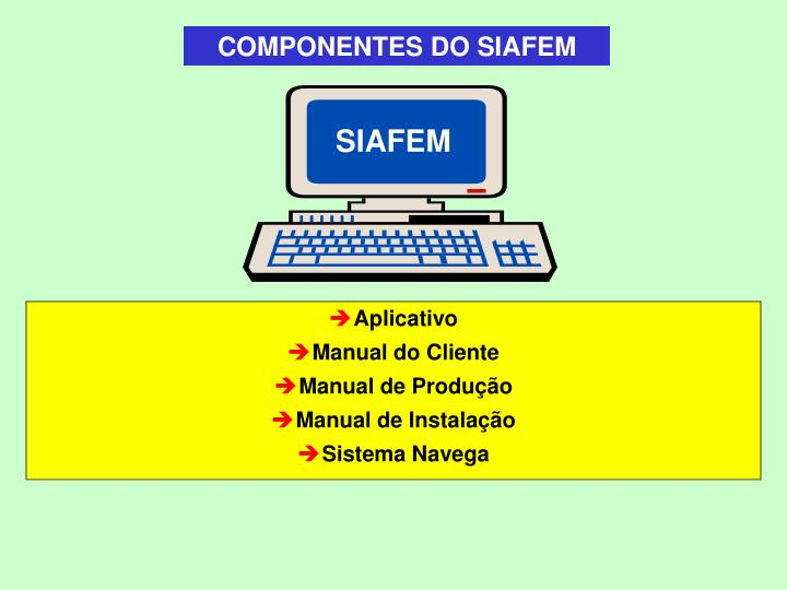 COMPONENTES DO SIAFEM