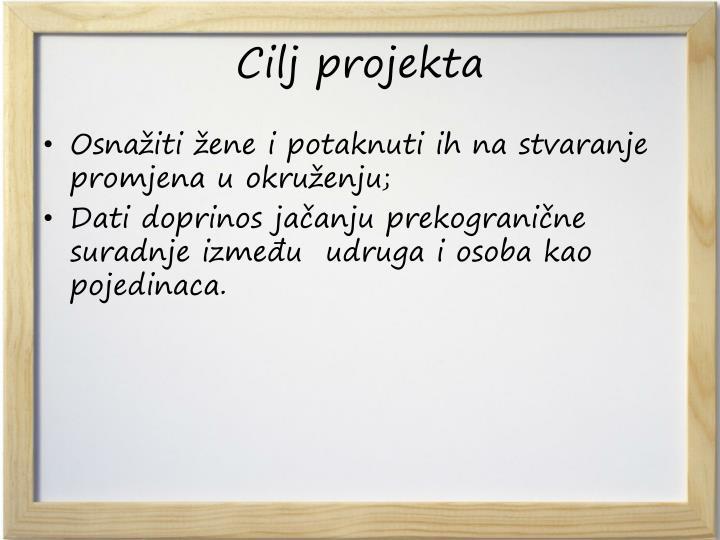 Cilj projekta