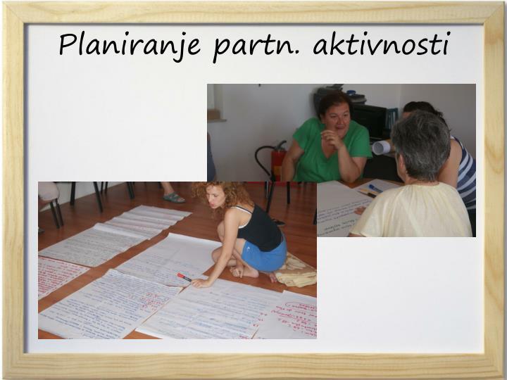 Planiranje partn. aktivnosti