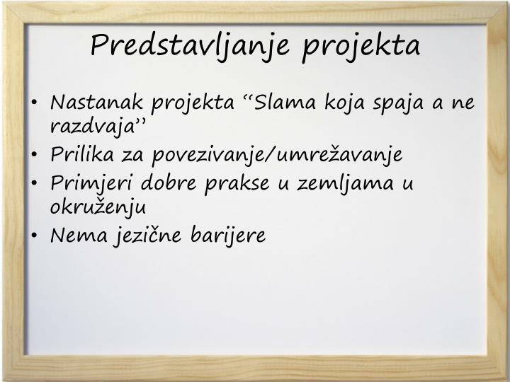 Predstavljanje projekta