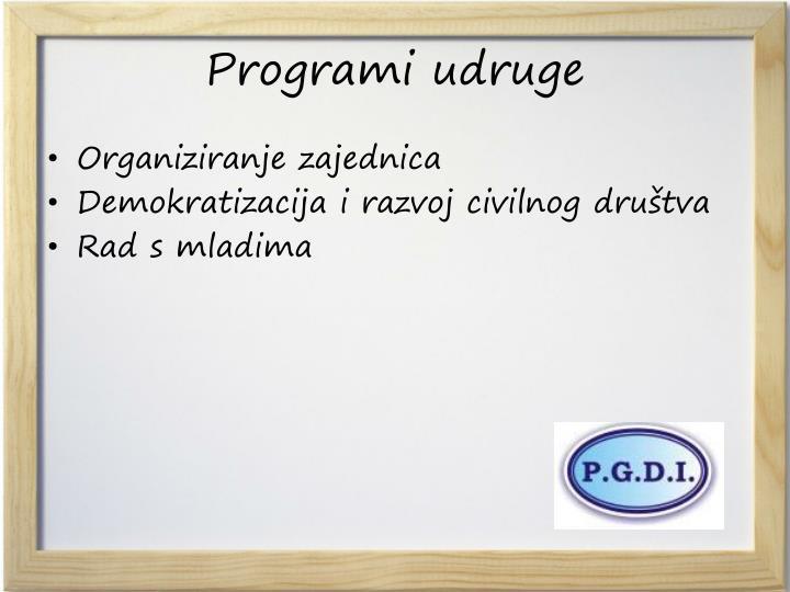 Programi udruge