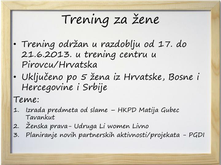 Trening za žene