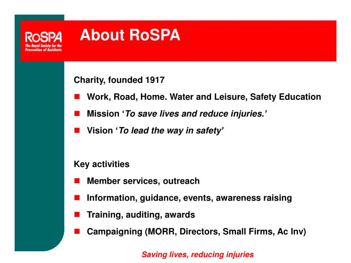 About RoSPA
