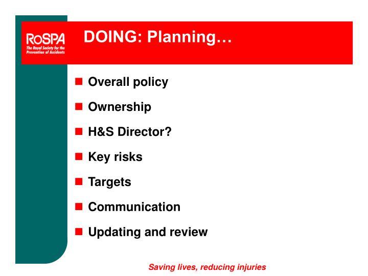 DOING: Planning…