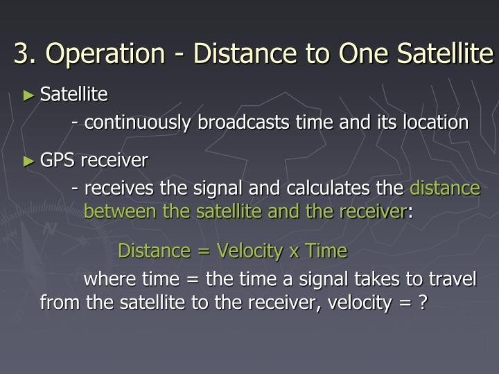 3. Operation - Distance to One Satellite