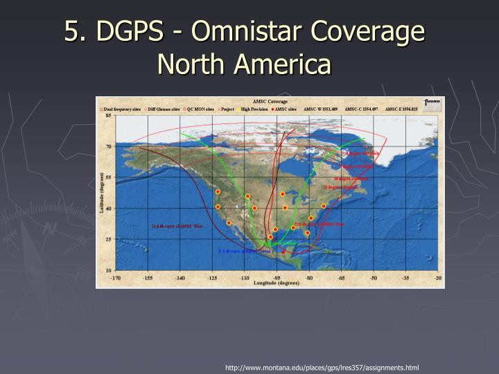 5. DGPS - Omnistar Coverage