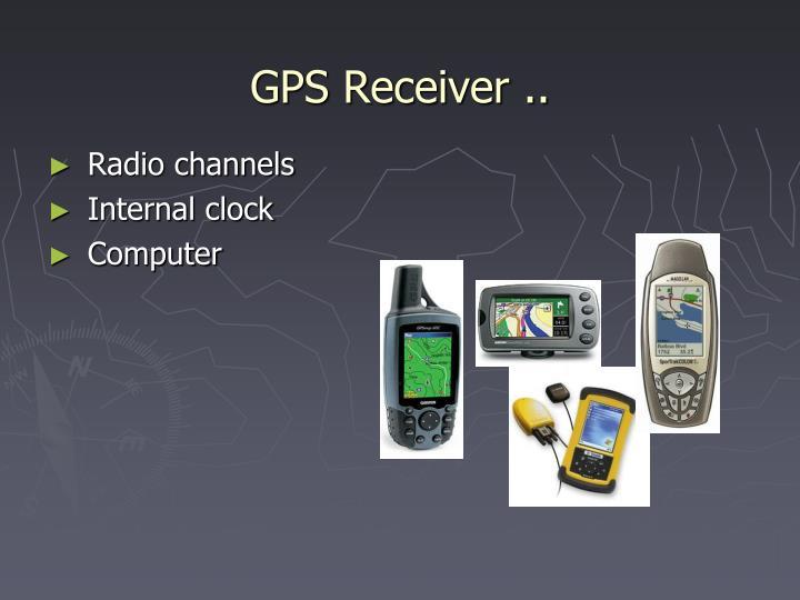 GPS Receiver ..