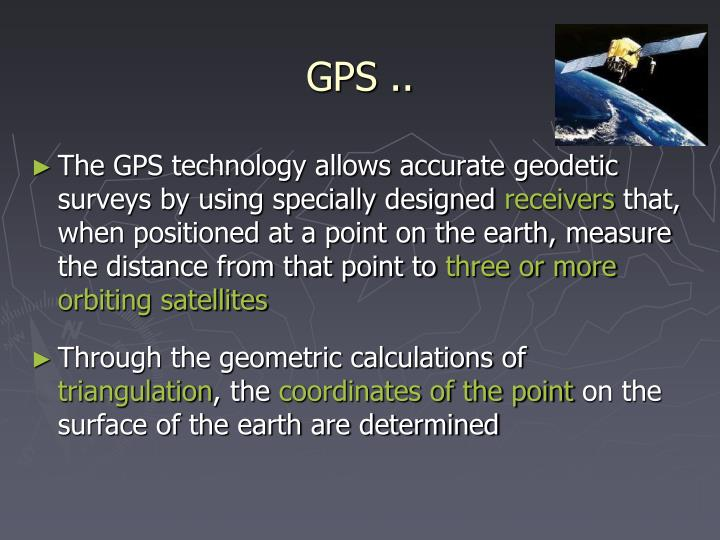 GPS ..