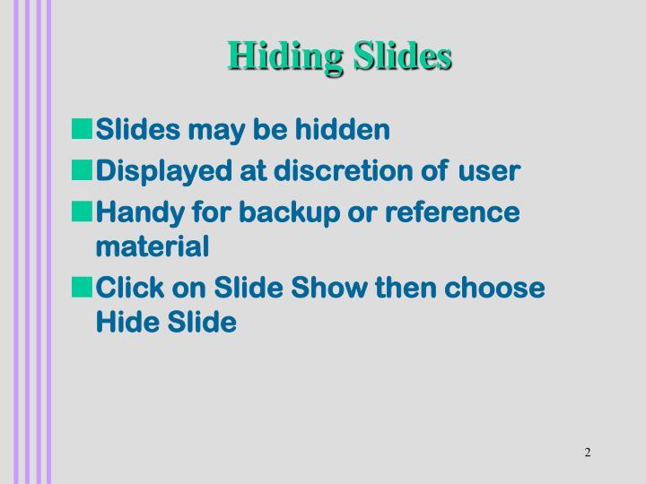 Hiding Slides