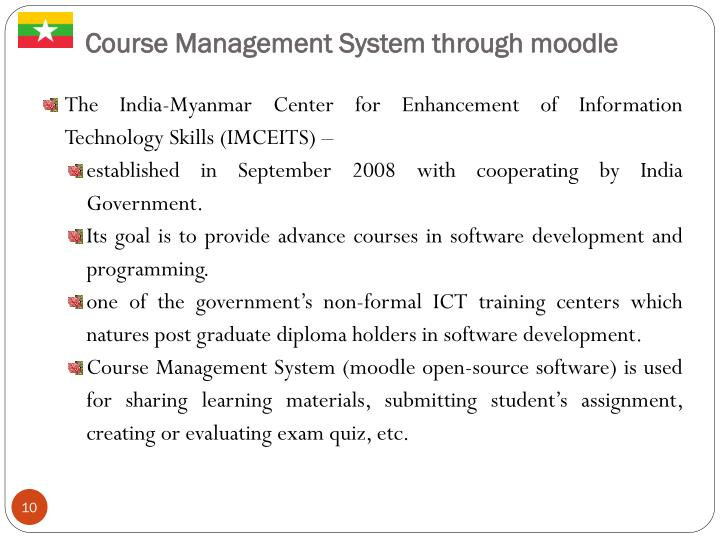 Course Management System through moodle