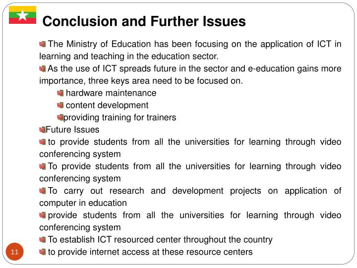 Conclusion and Further Issues