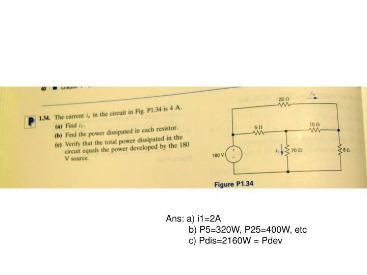 Ans: a) i1=2A