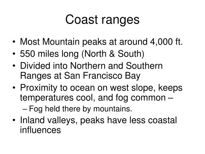 Coast ranges