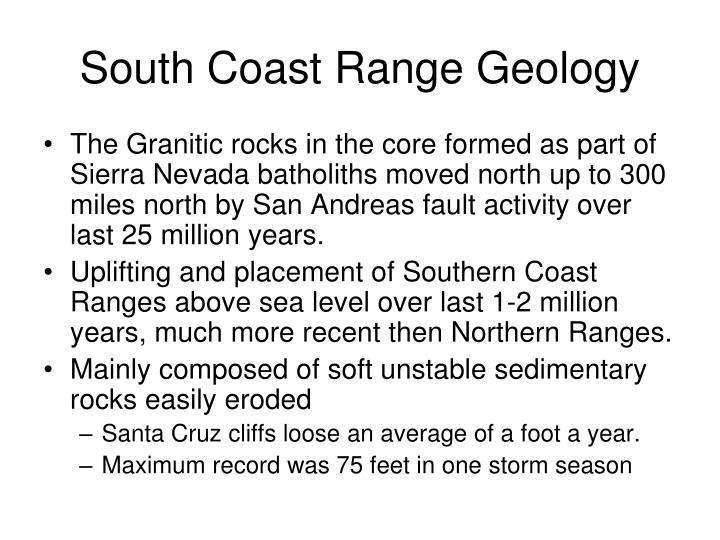 South Coast Range Geology