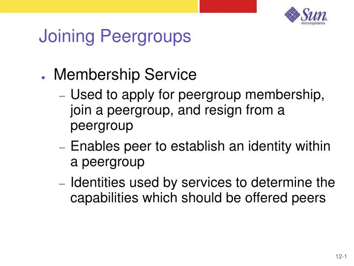 Joining Peergroups