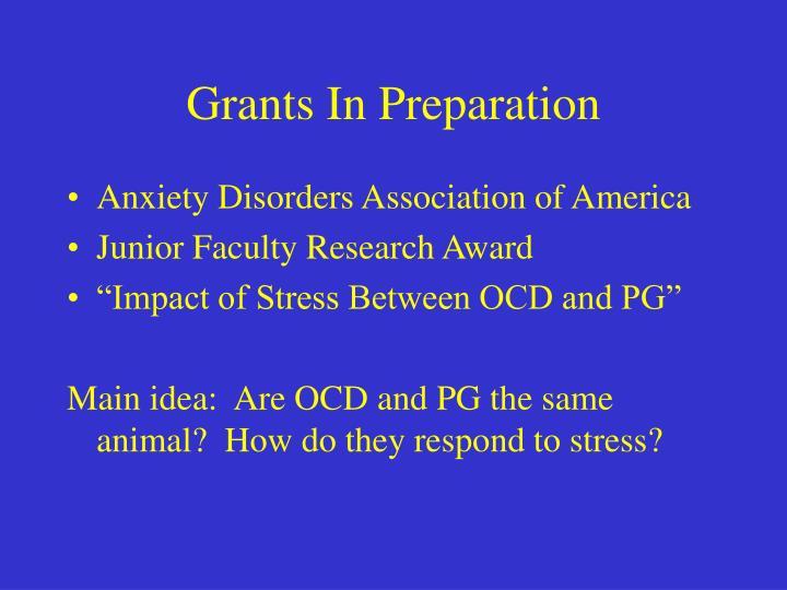 Grants In Preparation