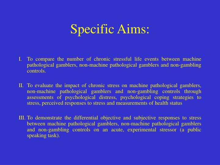 Specific Aims: